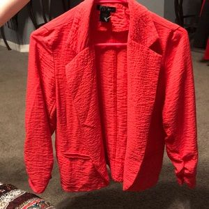 Coral Blazer Ruched-Sleeves. Macy's at $48 now $30